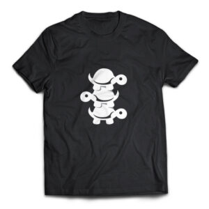 Triple Turtle black t-shirt
