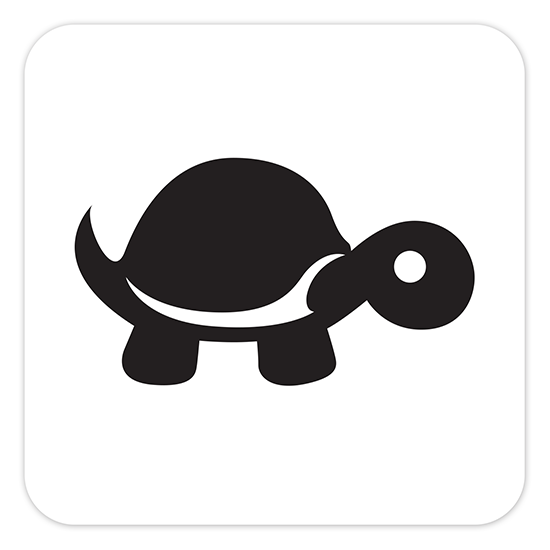 Tip It Turtle – STICKERS-4x4whSQ